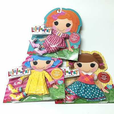 3x FASHION PAJAMAS/RAINCOAT/DRESS SUIT & SHOES LALALOOPSY FULL SIZE DOLL CLOTHES
