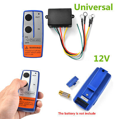 Universal New 100ft 12V Wireless Winch Remote Control Switch Handset For Car ATV