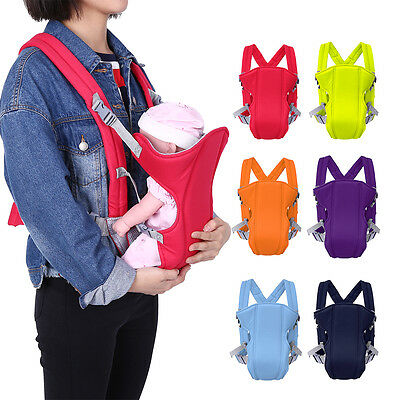 Infant Baby Carrier Backpack Mom Front Back Carrying Sling Seat Bag Polyester