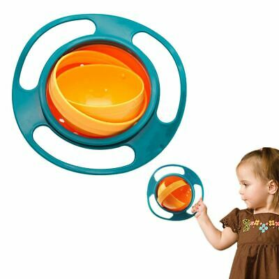 Non Spill Baby Food Bowl Spilling 360 Rotating Kid Feeding Dish Toddler Gyro Toy