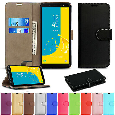 For Samsung Galaxy A40 A50 J4 J6 Plus Wallet Leather Case Flip Stand Case Cover