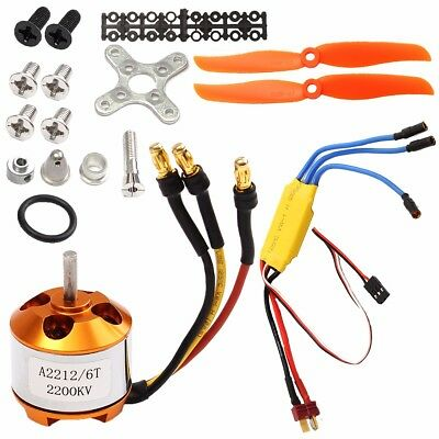 2200KV Brushless Motor 2212-6 + 30A ESC Für RC Aircraft Quadcopter Helicopter