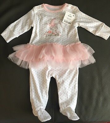 Brand New Baby Girls Sleepsuit From Next Up To 1 Month