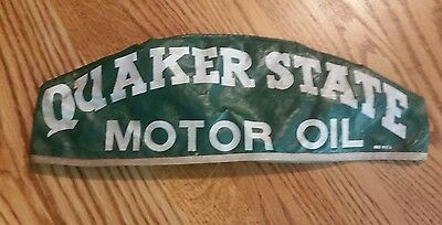 Vintage quaker state motor oil hat gas station attendant cloth