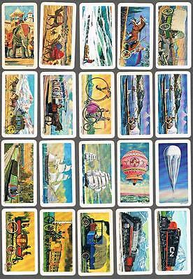 1967 Brooke Bond Transportation Through the Ages Trading Cards Complete Set