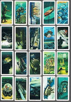 1974 Brooke Bond Exploring The Ocean Trading Cards Complete Set of 48