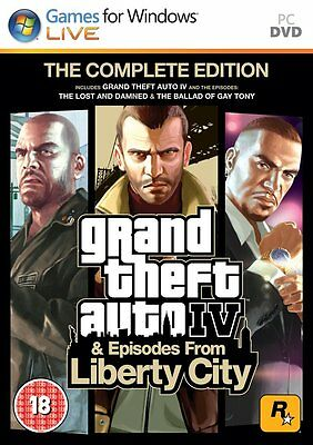 Grand Theft Auto IV: Complete Edition (PC DVD) BRAND NEW SEALED