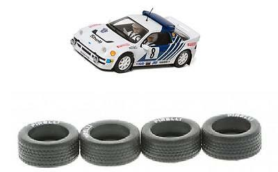 New Scalextric Spares W10144 Front & Rear Tyres Set For Ford RS200 Rally Cars