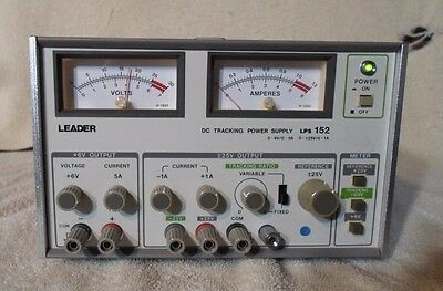 LEADER DC Tracking Power Supply Model LPS 152 PLEASE READ DESCRIPTION