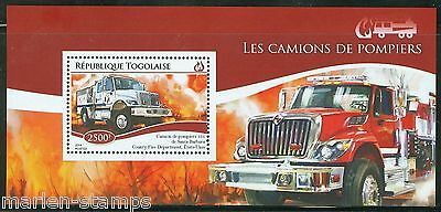 Togo  2014 Fire Engines Souvenir Sheet Mint Nh