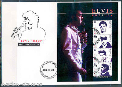 Nevis  Elvis Presley King Of Rock And Roll Sheet I Fdc