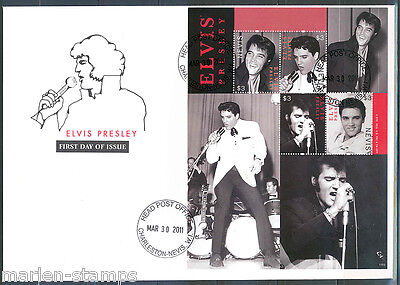 Nevis  Elvis Presley King Of Rock And Roll Sheet Ii Fdc