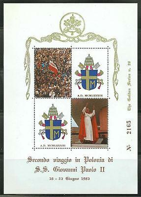 Vatican City  Pope John Paul Ii 1983 Visit To  Poland 15 Covers & One S/s