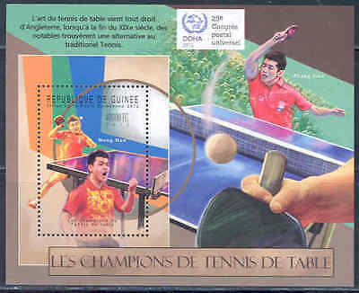 Guinea 2012 Champions Of Table Tennis Ping Pong Souvenir Sheet