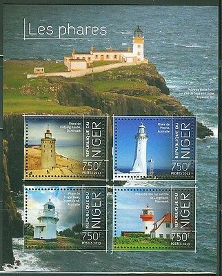 "Niger 2013 ""lighthouses"" Sheet Of Four Stamps"