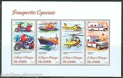 Sao Tome 2013 Specialized Rescue Vehicles  Sheet  Mint Nh
