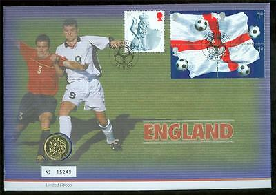 2002 Great Britain Philatelic Numismatic Cover World Cup Soccer