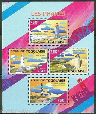 Togo 2014 Lighthouses Sheet Mint Nh