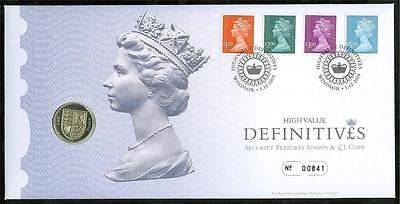 Great Britain Philatelic Numismatic 2009 High Value Definitives Cover