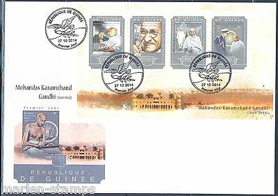 Guinea 2014 Mahatma Gandhi   Sheet First Day Cover