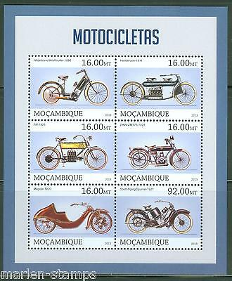 Mozambique 2013 Motorcycles  Sheet Mint Nh