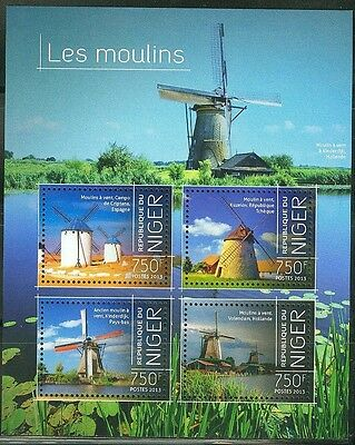 "Niger 2013 ""windmills"" Sheet Of Four Stamps"