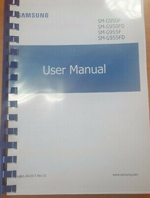 Samsung Galaxy S8/s8 Plus Sm- G950F/g955F Printed Manual User Guide 237 Pages A5