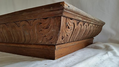 "Antique Carved Oak Wood Architectural Cornice Victorian Salvage 42"" X 19"" X 5"""