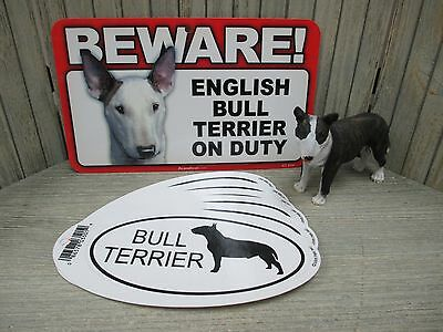 Bull Terrier - Statue, Sign, and Stickers
