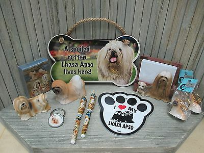Lhasa Apso - Note Holder, Pens, Statues, Key Chains, Deck of Cards, Sign