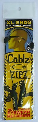 "16"" CABLZ ZIPZ XL ENDS SUNGLASSES/Glasses CABLE  Adjustable >NEW<"