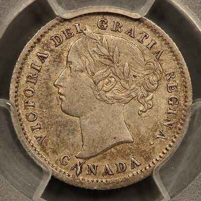 Canada 10 Cents 1872-H Silver PCGS XF45