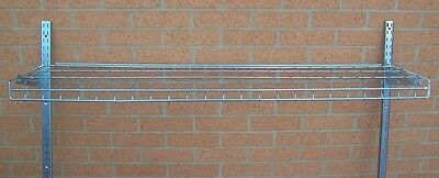 "Store Fixture Supplies 5 WIRE METAL CHROME SHELVES FOR WALL STANDARDS 48"" LONG"