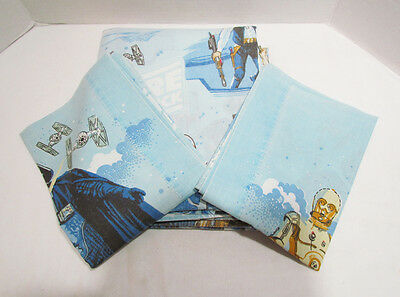 Star Wars Empire Strikes Back 1979 Twin Bed Flat Sheet & 2 Pillow Cases Esb Used