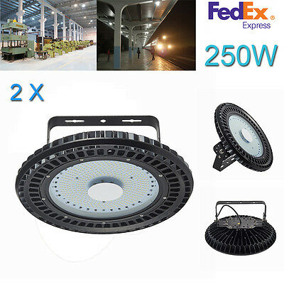2X 250W LED High Bay Light Warehouse Industrial Factory Lamp Shed Light 110V