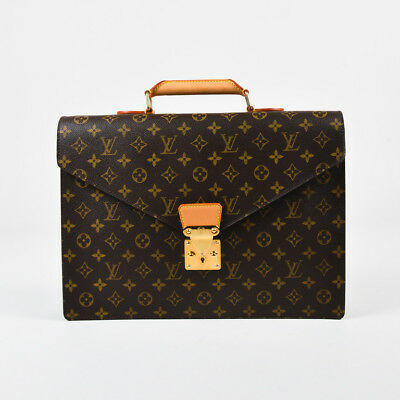 "Louis Vuitton Brown Coated Canvas & Leather Monogram ""Conseiller"" Briefcase"