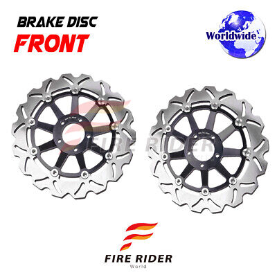 FRW 2x Front Brake Disc Rotor For Triumph ROCKET III ROADSTER 2300 ABS 10-15 11