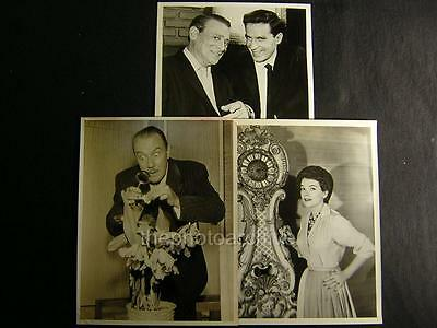 VINTAGE 60s Assorted TV 6 PHOTO LOT 66W