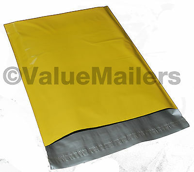 100 10x13 YELLOW Poly Mailers Shipping Envelopes Couture Boutique Quality Bags