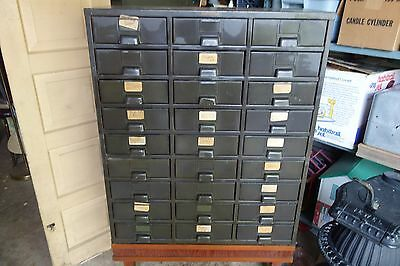 Hobart vintage Parts Bin 27  Drawer Steel Metal Storage Cabinet/Industrial/