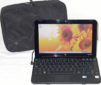 HP Compaq Mini Notebook Laptop Core 2GB Intel Windows 7 Webcam WiFi Black PC