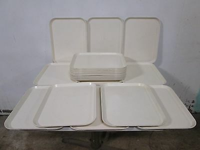 """Lot Of (25) """"forte"""" H.d. Commercial Fiber-Glass Stackable/durable  Food Trays"""