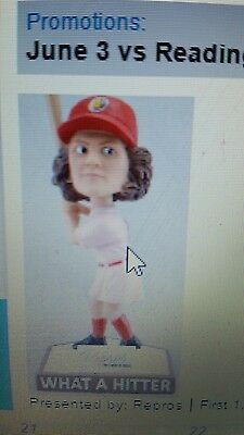 Marla Hooch Bobblehead Akron RubberDucks Cleveland Indians A League of Their Own
