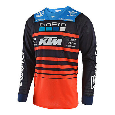 2018 Troy Lee Designs TLD Mens SE Air Streamline Team Jersey Navy/Orange MX ATV