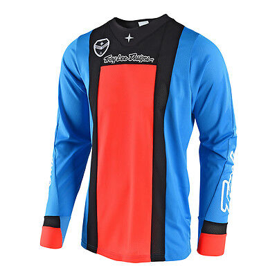 2018 Troy Lee Designs TLD Mens SE Air Squadra Jersey Cyan/Orange MX ATV
