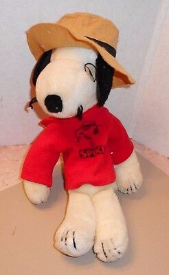 """Vintage Plush SPIKE Dog SNOOPY Brother w/ Hat and Shirt Stuffed -Rare, 13"""""""