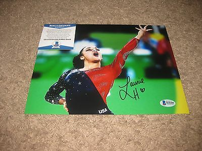 Gold Medal Winner Olympic Gymnast Laurie Hernandez signed 8x10 Photo BAS BECKETT