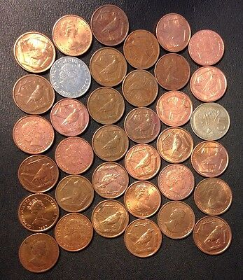 Old Cayman Islands Coin Lot - 36 Unsearched Lower Mintage Coins - Lot #M24