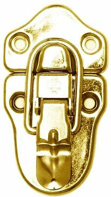 BRASS Plated Drawbolt lock latch antique chest trunk steamer vintage old rustic