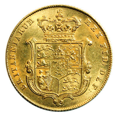 1826 Sovereign, George Iv Bare Head